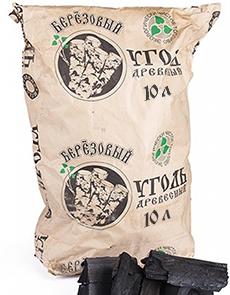 древесный уголь 10 литров