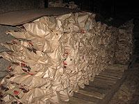 Складирование древесного угля