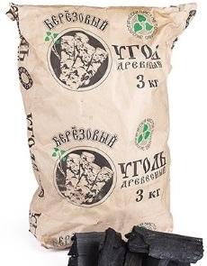 мешок древесного угля 3 кг